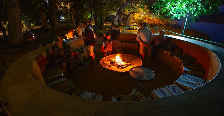 Firepit, Island Safari Lodge